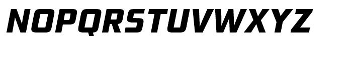 Bunken Tech Sans Extra Bold Italic Font UPPERCASE