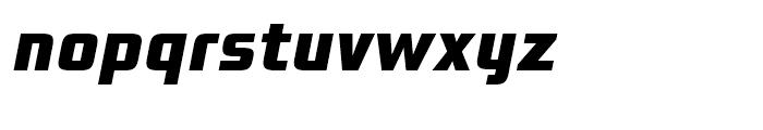 Bunken Tech Sans Extra Bold Italic Font LOWERCASE