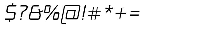 Bunken Tech Sans Light Italic Font OTHER CHARS