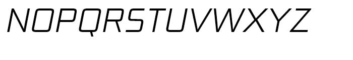 Bunken Tech Sans Light Italic Font UPPERCASE