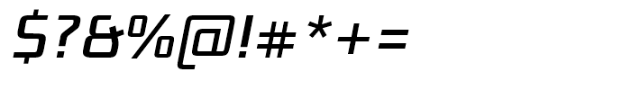 Bunken Tech Sans Medium Italic Font OTHER CHARS