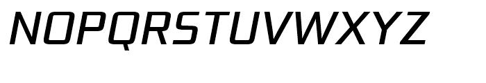 Bunken Tech Sans Medium Italic Font UPPERCASE