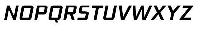 Bunken Tech Sans Semi Bold Italic Font UPPERCASE