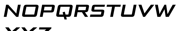 Bunken Tech Sans Wide Bold Italic Font UPPERCASE