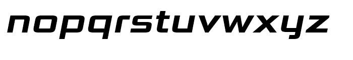 Bunken Tech Sans Wide Bold Italic Font LOWERCASE