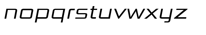 Bunken Tech Sans Wide Book Italic Font LOWERCASE
