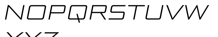 Bunken Tech Sans Wide Light Italic Font UPPERCASE