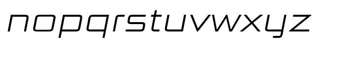 Bunken Tech Sans Wide Light Italic Font LOWERCASE