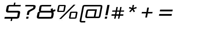 Bunken Tech Sans Wide Medium Italic Font OTHER CHARS