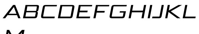 Bunken Tech Sans Wide Medium Italic Font UPPERCASE