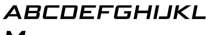 Bunken Tech Sans Wide SC Bold Italic Font UPPERCASE