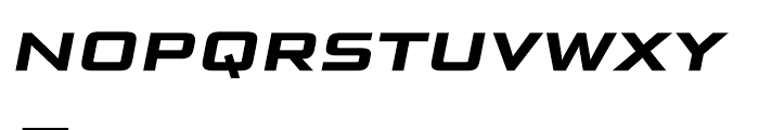 Bunken Tech Sans Wide SC Bold Italic Font LOWERCASE