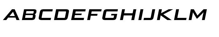 Bunken Tech Sans Wide SC SemiBold Italic Font LOWERCASE