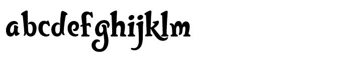 Bunky Regular Font LOWERCASE
