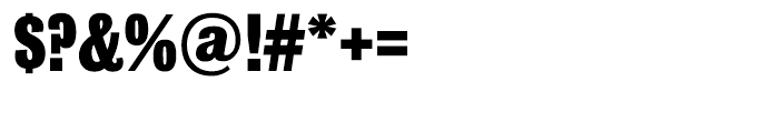 Bureau Grot Compressed Black Font OTHER CHARS