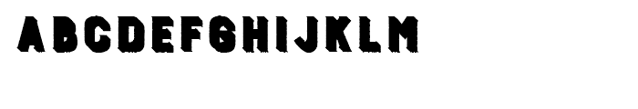 Burford Rustic Extrude One A Font LOWERCASE