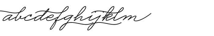 Business Penmanship Bold Font LOWERCASE