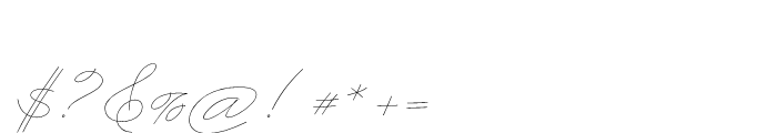 Business Penmanship Regular Font OTHER CHARS