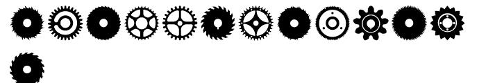 Buzzcog Regular Font LOWERCASE