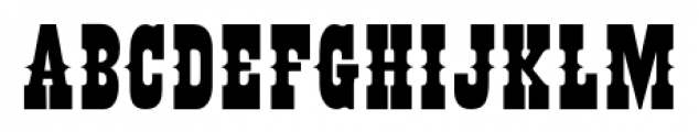 Buffalo Circus Regular Font UPPERCASE