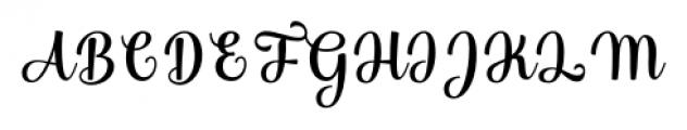 Bulgary Regular Font UPPERCASE