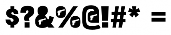 Bulltoad Pistol Font OTHER CHARS