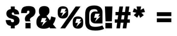 Bulltoad Zap Font OTHER CHARS