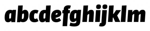 Bulo Extra Black Italic Font LOWERCASE