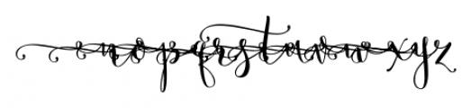 Butterfly Waltz Alt Left Font LOWERCASE