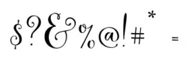 Butterfly Waltz Regular Font OTHER CHARS