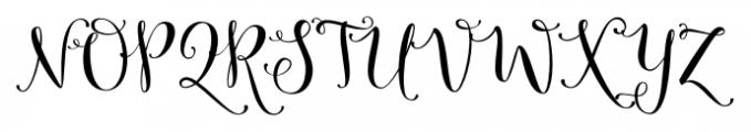 Butterfly Waltz Regular Font UPPERCASE
