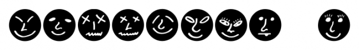 ButtonFaces Bold Font OTHER CHARS