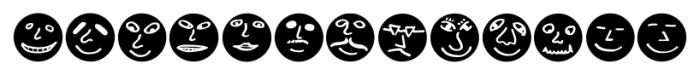 ButtonFaces Bold Font LOWERCASE