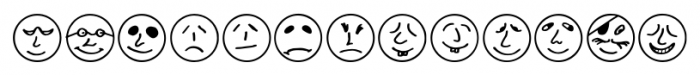 ButtonFaces Regular Font UPPERCASE