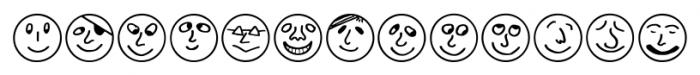 ButtonFaces Regular Font LOWERCASE