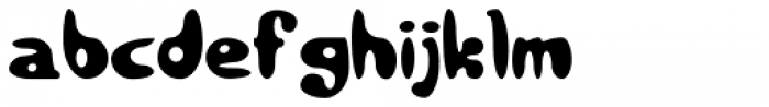 Bubbaloon Font LOWERCASE