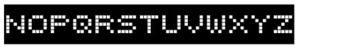 Bubbledot ICG Coarse Neg Font UPPERCASE
