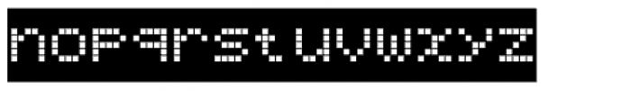 Bubbledot ICG Coarse Neg Font LOWERCASE