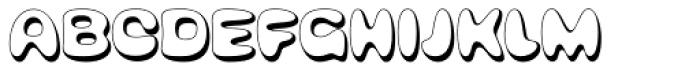 Bubblegum Pop Shadow Font UPPERCASE