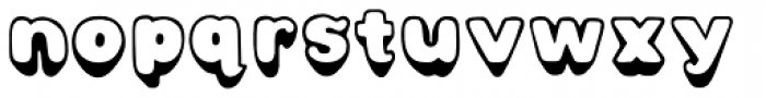 Bubbly Hills Solid Font LOWERCASE