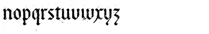 Bucanera Antiqued Font LOWERCASE
