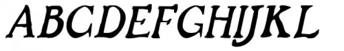 Buccaneer Italic Font UPPERCASE