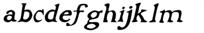 Buccaneer Italic Font LOWERCASE