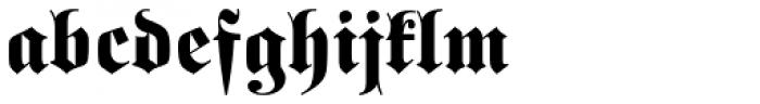 Buchfraktur Fett Font LOWERCASE