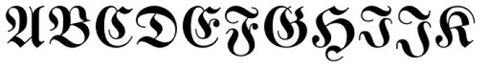 Buchfraktur Halbfett Font UPPERCASE