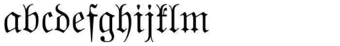 Buchfraktur Font LOWERCASE
