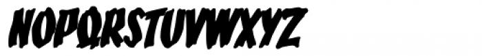 Bucket O' Blood Italic Font UPPERCASE