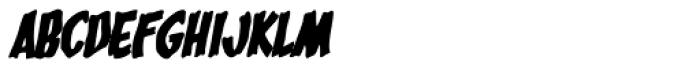 Bucket O' Blood Italic Font LOWERCASE