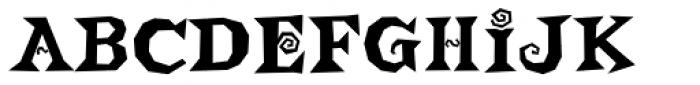 Buckethead Font UPPERCASE