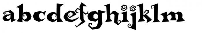 Buckethead Font LOWERCASE
